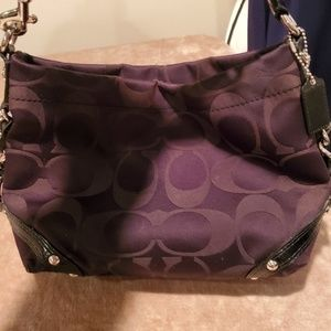 Coach Signture Pattern handbag GUC